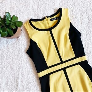 Black & yellow New York & Company dress